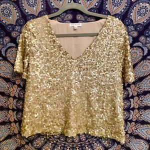 Socialite gold sequined top
